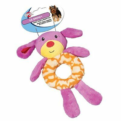 Ethical Pet Lil Spots Plush Ring Toys for Small Dogs & Puppies, 7.5-Inch