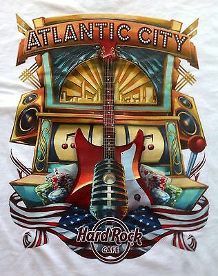 Hard Rock Cafe Atlantic City City Tee T-Shirt Size Adult Xx-Large New With Tags