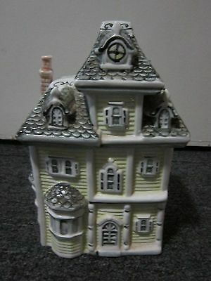 "9.5"" Ceramic London Victorian Mansion House Cookie Jar"