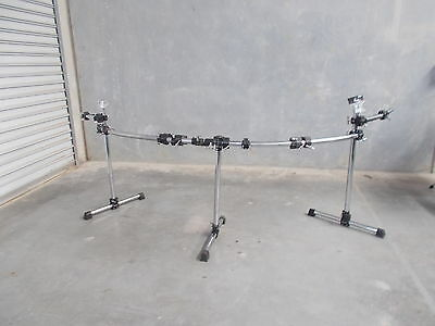 HUGE Gibraltar rack with eight clamps  and 2x post mounts Suit double bass kit