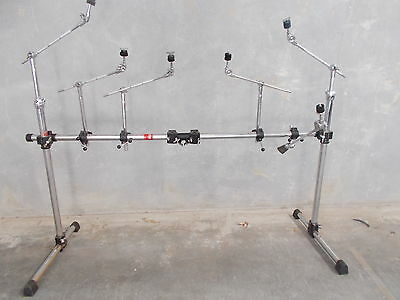 Gibraltar rack with SIX BOOM ARMS and 2x tom clamps Suit double bass kit