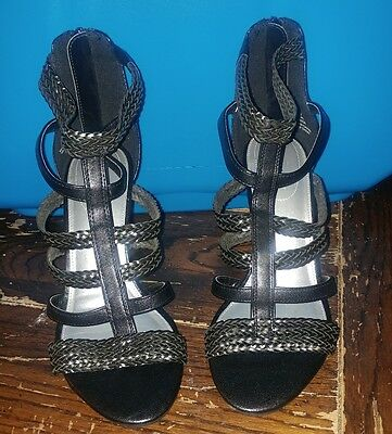 81ece4bf79c Kiki By X-Appeal Women s Wedge Style Strappy Heels In Black Size 9 M New