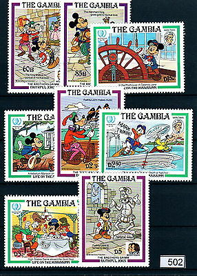 X0 Disney 502 The Gambia SC# 560-567 Mark Twain MNH
