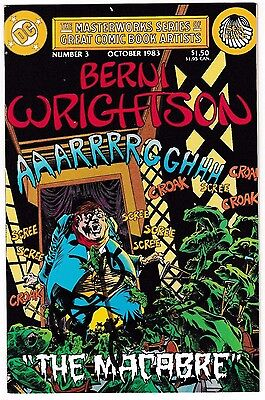 MASTERWORKS SERIES #3 (NM-) Signed by BERNI WRIGHTSON! DC 1983 Bronze-Age Horror