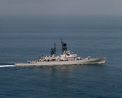 United States Navy Cruiser Uss Halsey Cg23 Photograph With Stats & History Sheet