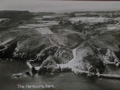 Real Photo Postcard The Harbours Sark Channel Islands