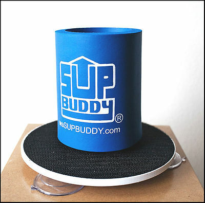 SUPBUDDY PADDLE BOARD DRINK HOLDER, SUP Accessory, Suction Attached, Blue, *New*