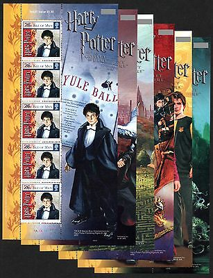 ISLE OF MAN 2005 Harry Potter & Goblet of Fire: Complete Set of 6 Sheets UM/MNH