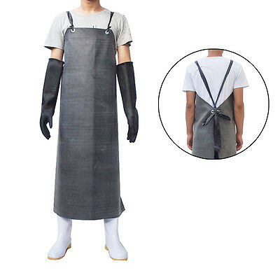 New Heavy Duty Waterproof Rubber Anti Oil Industrial Protective Working Apron