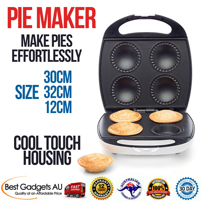 Pie Maker 4-piece Non Stick Plate Easy Cooking Pastry Bakes Effortless Nonstick