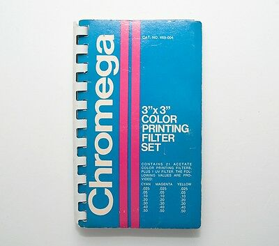 "Chromega 3""x3"" Color Printing Filter Set Of 21 Filters"