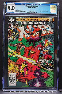 The Uncanny X-Men #160, CGC: 9.0, (Aug 1982, Marvel)