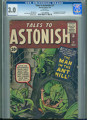 Tales to Astonish #27 (Jan 1962, Marvel) CGC 3.0  1st Appearance of the Ant-Man
