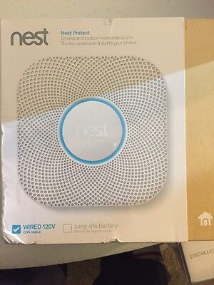Nest Protect 2nd Generation Smoke and Carbon Monoxide Alarm Direct Wired Sealed