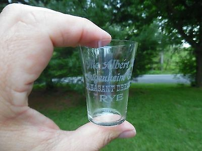 Albert M. Gugenheim Co. Pleasant Dreams Rye Pre Pro Shot Glass