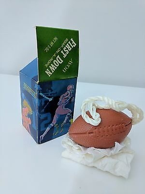 VINTAGE 1970 AVON Soap-On-A-Rope First Down FOOTBALL Classic 5oz EXCELLENT
