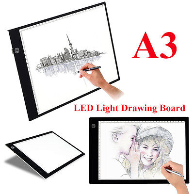 Thin A3 LED Light Box Tracing Board Art Design Stencil Drawing Pad Lightbox 8mm