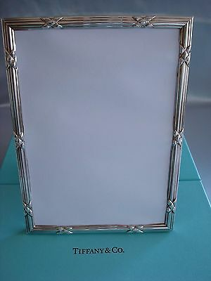 Tiffany Sterling Silver ~ New In Box ~ 'x' Picture Frame 5 X 7 ~ Magnificent!