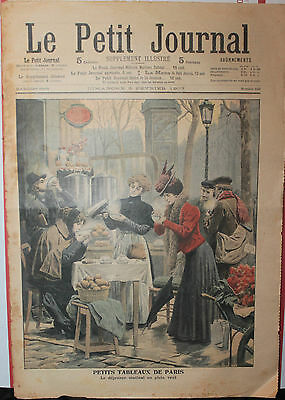 Feb 3 1907 Le Petit Journal The Earthquake in Kingston  ( on back cover)