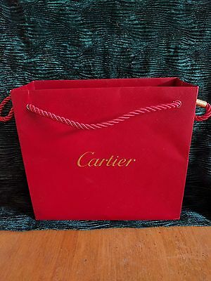 Authentic Cartier paper gift & shopping bag, wonderful condition