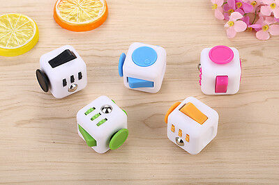 Crazy Magic Fidget Cube Anxiety Stress Relief Focus 6-side Gift For Adults Child