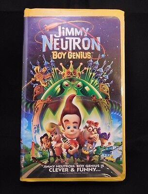 Nickelodeons Nicktoons Jimmy Neutron And  Boy Genius Movie Figures VHS Robot Dog