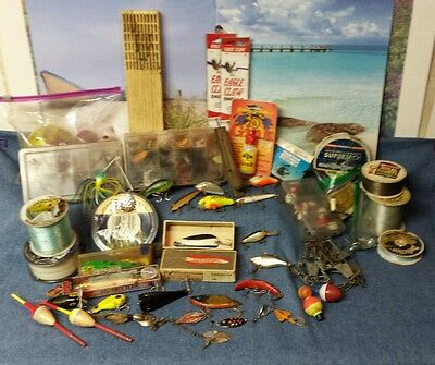 Fishing Lures, Flies and Tackle Lot - New, Used and Vintage