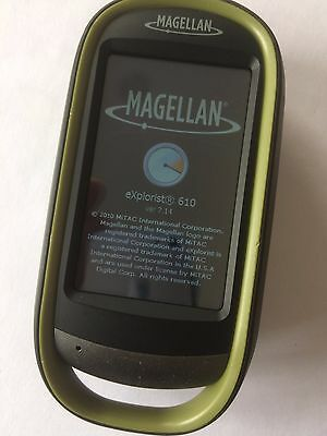 GENUINE Magellan eXplorist 610 Handheld GPS with Camera IPX7 World Map 3D View
