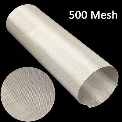 30cm x 120cm Roll 25 Micron 500 mesh Stainless Steel Filtration Woven Wire Sheet