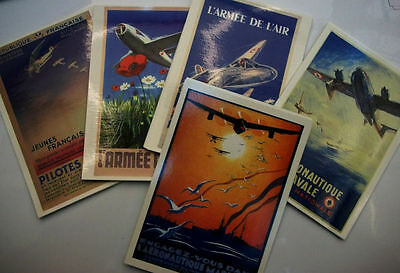 AVIATION CARTES POSTALES REPRODUCTION d'AFFICHES ANCIENNES de RECRUTEMENT