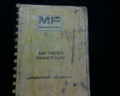 Massey Ferguson MF 30 50 Industrial Tractor Owners Operator manual service book