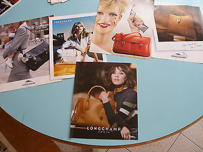 Lot De 5 Pubs Revues Sacs Longchamp Nefertiti Kate Moss