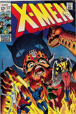X-MEN #51 - 1968 - 1st app Erik the Red FN/VF