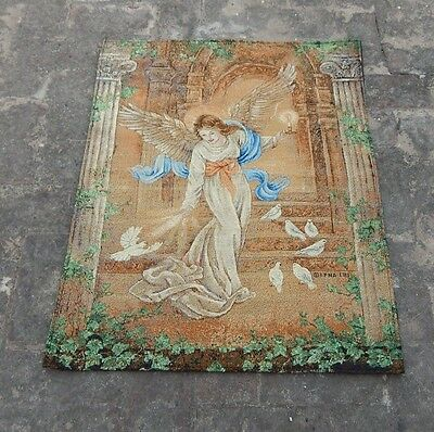 Vintage Beautiful Angel Scene Tapestry 86x66cm (A884)