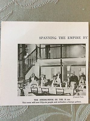 m17a7 book picture ephemera the dining room r100 airship