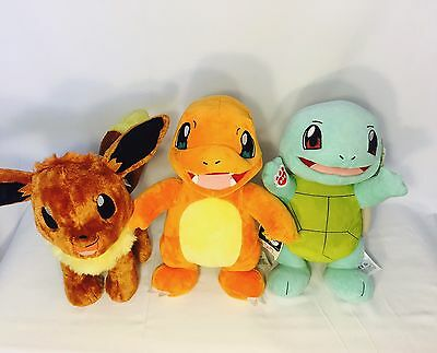 Build-A-Bear Pokemon Go Pokémon Squirtle Charmander Eevee Stuffed Animal Bundle