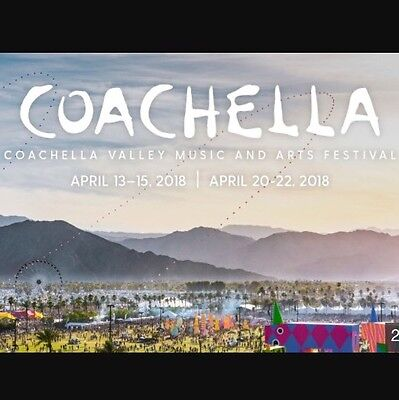 2 X Coachella 2018 Tickets - Weekend 2, General Admission