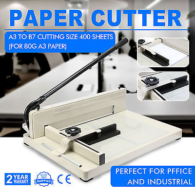 A3 Paper Guillotine   Cutter Trimmer Machine Commercial Photo Rotary Rotate-Able