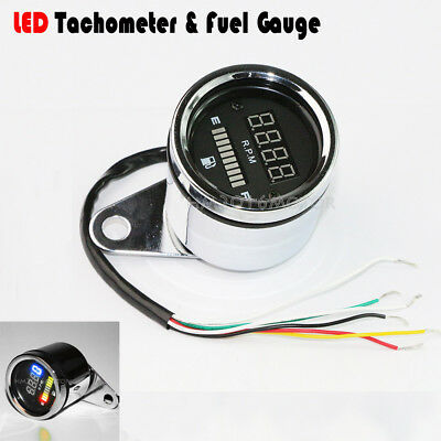 Motorcycle LED tachometer Fuel Gauge Fit Honda VT Shadow Spirit VLX 600 750 1100