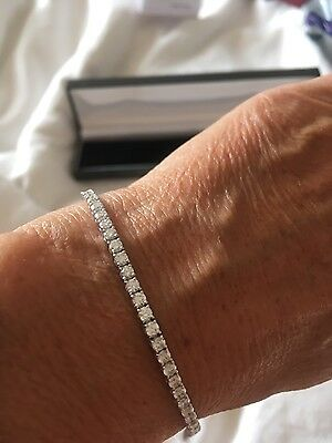 4ct Diamond  Line Bracelet