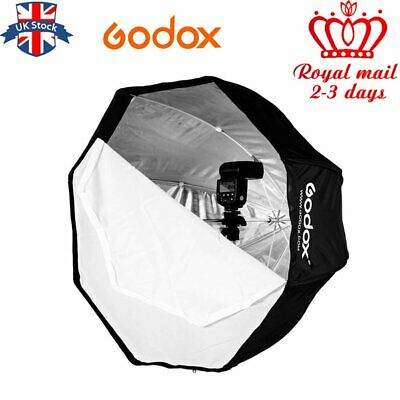 UK 120cm Godox Portable Octagon Softbox Umbrella Brolly Reflector for Speedlite