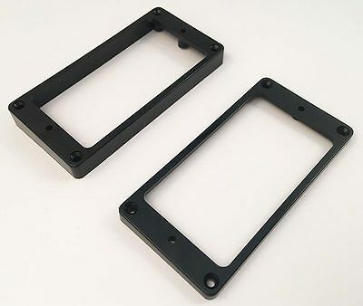 Allparts PC-0743-023 Humbucker Mounting Ring Set - Black Flat Slanted for Gibson
