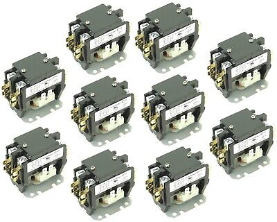 ( 10 ) New Definite Purpose Contactor 2 Pole 40/50Amp CN-PBC402-24V coil
