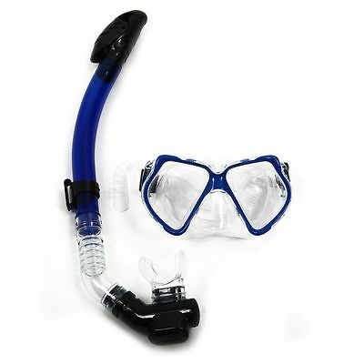 Dive Diving Mask Goggles Dry Snorkel Combo Set Swimming Scuba Snorkeling O4E3