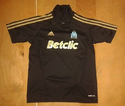 Very Rare Original Adidas Olympique Marseille 2010/11/12 Away Black Shirt 11/12y