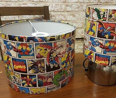 New marvel lampshade touch lamp bedroom set superhero light.