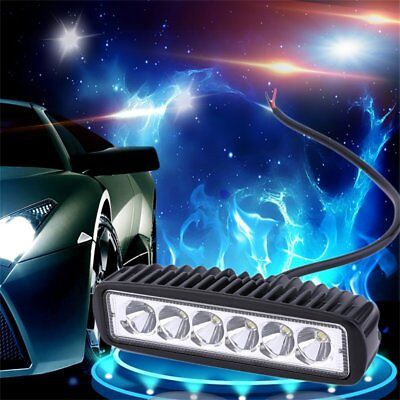 2 Pcs Waterproof 18W LED Bright Motorcycle Jeep ATV Driving Fog Light 10-30V DC