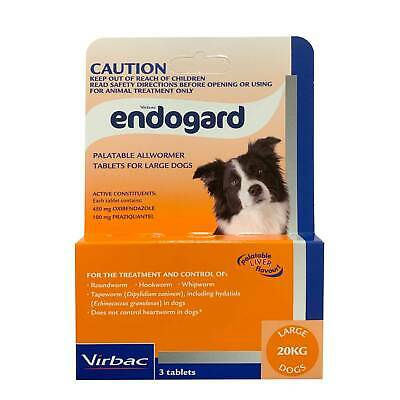 Endogard Broad Spectrum All Wormer for Large Dogs over 20kg (Purple Box) - 3pk