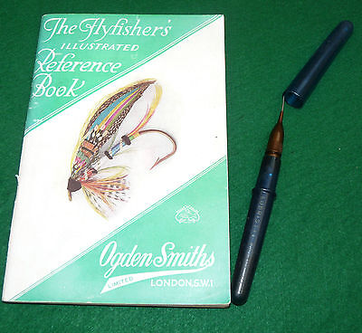 Ogden Smith Fly Fishers ref guide & pen style dry fly oiler in blue Patent