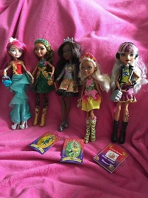 💙Ever After High Bundle Of 5 Rare Dolls Nina, Jillian, Justine & Others!!❤️